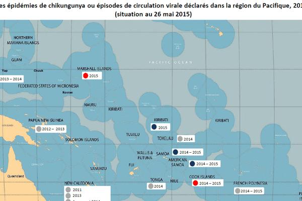 Carte chikungunya océanie