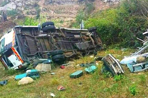 Accident d'un taxi-brousse 27 septembre 2021 12 morts