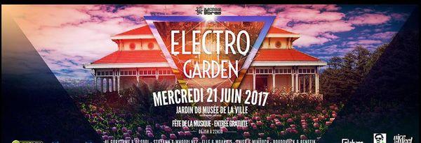 Affiche Electro garden fête de la musique 2017