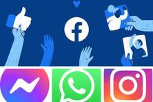 Les visuels de Facebook, Messenger, WhatsApp et Instagram.