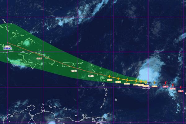 Danny tempête tropicale
