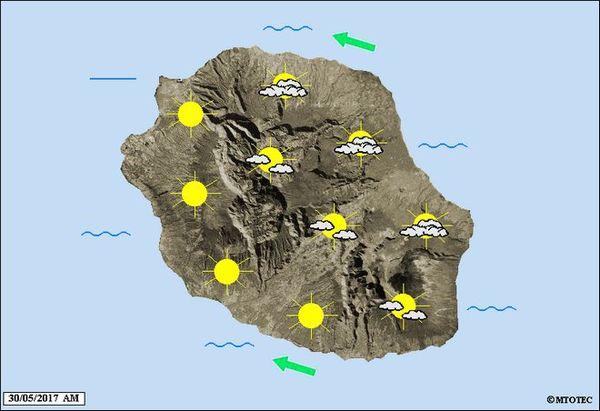 Carte météo 30 mai 2017