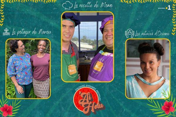 'Ai hotu #22 : crevettes locales flambées au pastis et au lait de coco, le corrosol dans votre potager et l'astuce recyclage