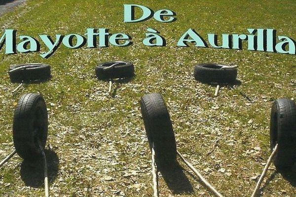 Course de pneus à Aurillac