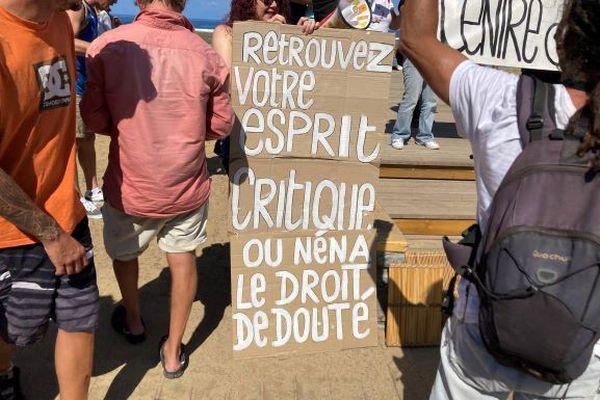 Manifestation contre le passe sanitaire à Saint-Denis