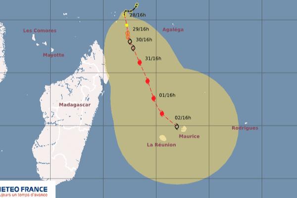 Trajectoire cyclone