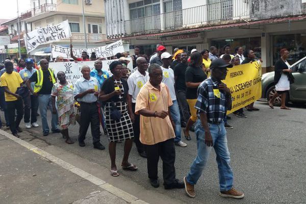 Une centaine de personnes dans les rues de Cayenne pour réclamer le retrait de la loi Elan
