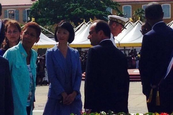 Arrivée Hollande Place de la Victoire