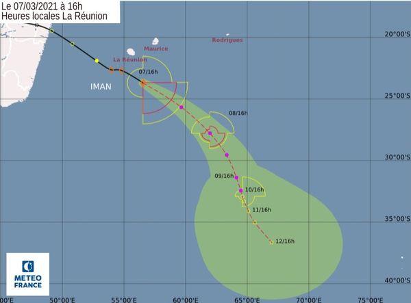 Tempête tropicale Iman 16h 070321