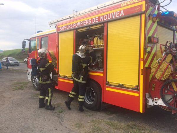 Intervention pompiers exercice EEC Magenta (14 juin 2017)