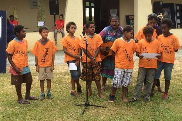 Houailou : journée Ajië - classe de Do Neva