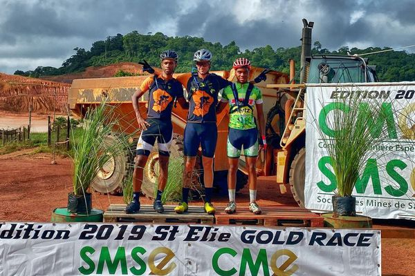 Le podium de la Saint-Elie Gold Race