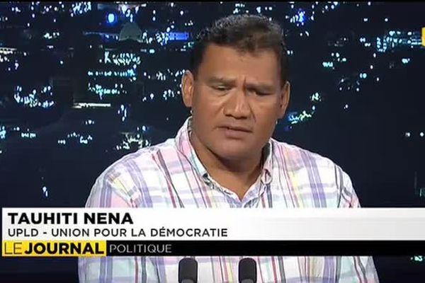 Tauhiti Nena, candidat UPLD aux dernières sénatoriales, était l'invité du JT