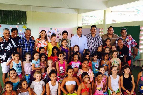 Les enfants du conservatoire de Polynésie à l'antenne de Pirae