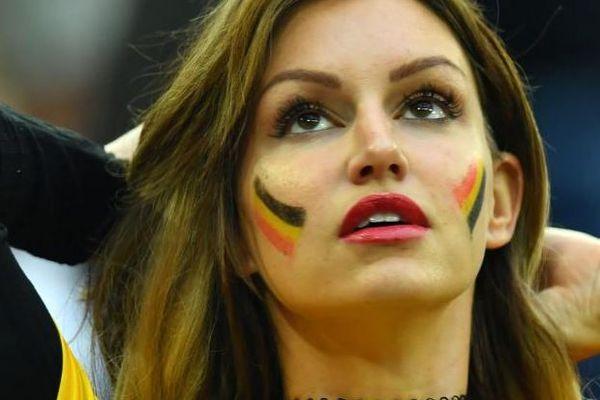 Une supportrice de la Belgique