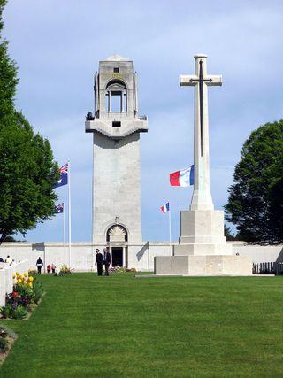 Anzac Day. Monument australien Villers-Bretonneux
