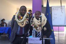 Saïd Omar Oili, maire de Dzaoudzi-Labattoir (à gauche) restera également président de la communauté des communes de Petite Terre.