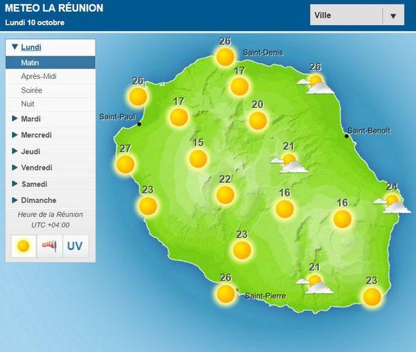 Carte météo 10 10 2016