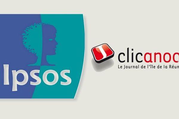 Logos joints Ipsos/Clicanoo
