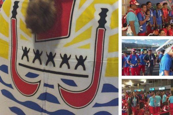 Départ de 223 athlètes Polynésiens aux Samoa