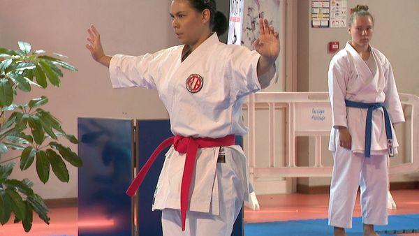 Reprise de la compétition de karaté après le coronavirus, kata, 29 août 2020, Angélique Mondolini