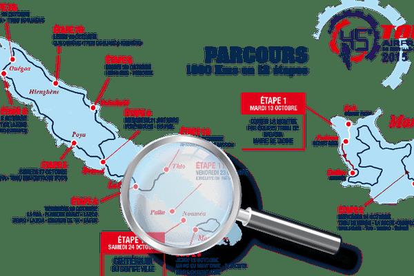 La carte du Tour cycliste 2015
