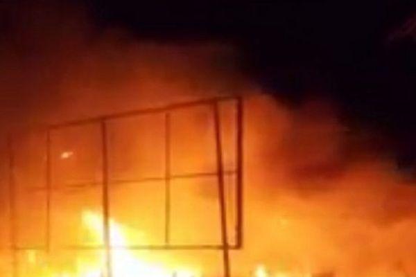 Incendie dans le quartier d'Ambodivona