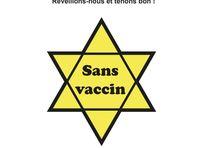 L'étoile jaune utilisée par les nazis durant la Seconde guerre mondiale a été reprise dans le cadre d'un appel à manifester contre la campagne vaccinale en Nouvelle-Calédonie, organisée le 24 avril 2021.