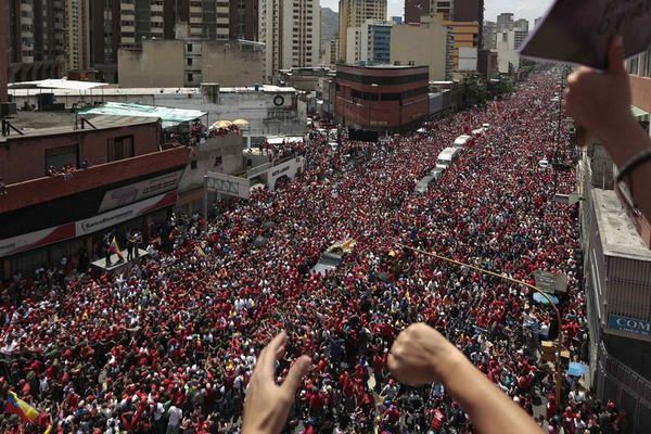 la foule au venezuela