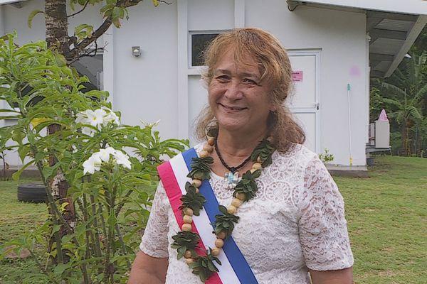 Elsa Keck , première adjointe au maire Moorea