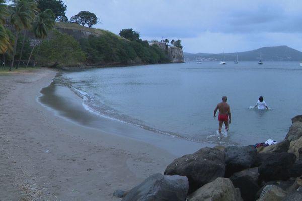 plage Française bain démarré