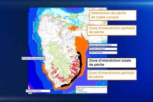 carte pollution zones de pêche