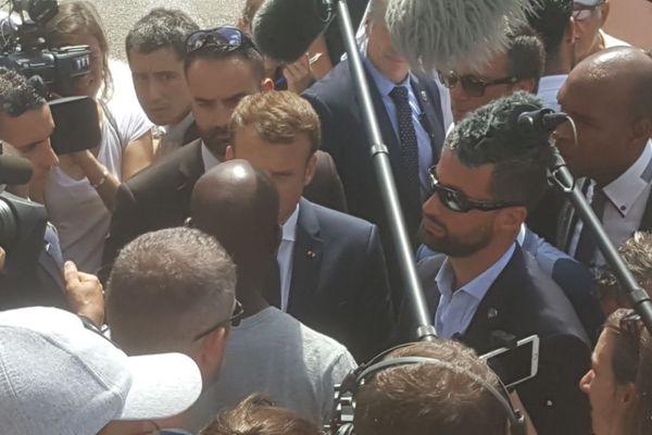 Macron et José Achille