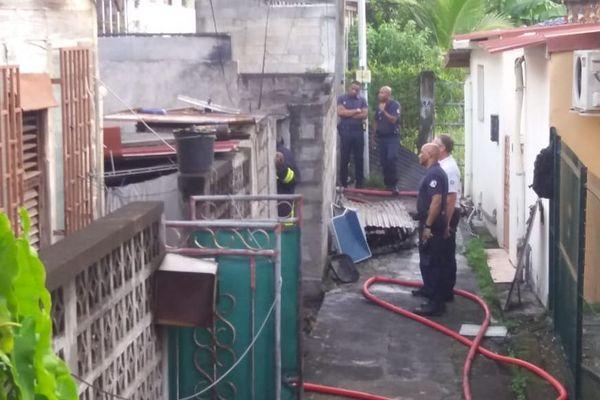 Scène d'incendie