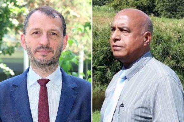 Alexandre Rochatte, préfet de Guadeloupe et Harry Olivier, président de la FADUEG