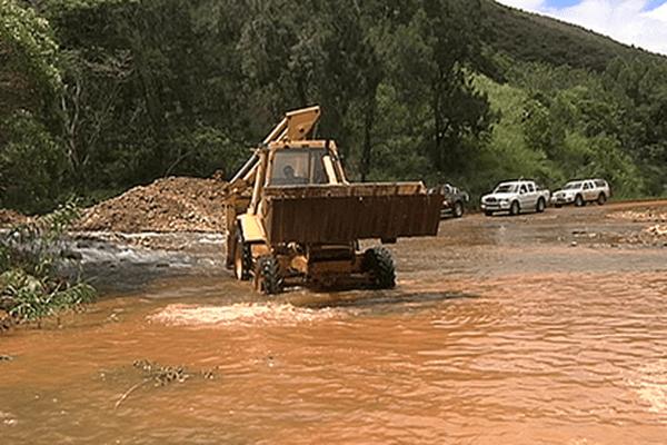Le creek inondé en 2013
