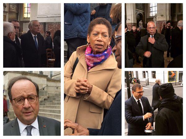 Politique aux obsèques de JM Martial.
