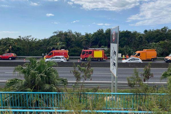 Accident quatre voies Saint-Marie