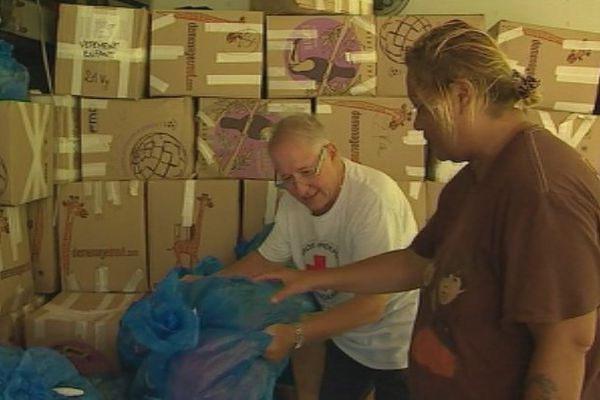 Intempéries: la Croix Rouge a commencé à distribuer ses dons aux sinistrés