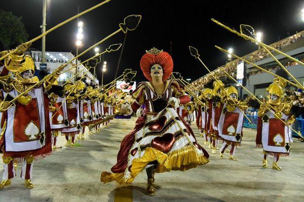 La parade unie du carnaval Viradouro à Rio en 2018 (image d'illustration)