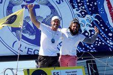 Eric Peron à gauche, Miguel Danet à droite, un duo qui connaît bien la route vers Saint-Barthélémy