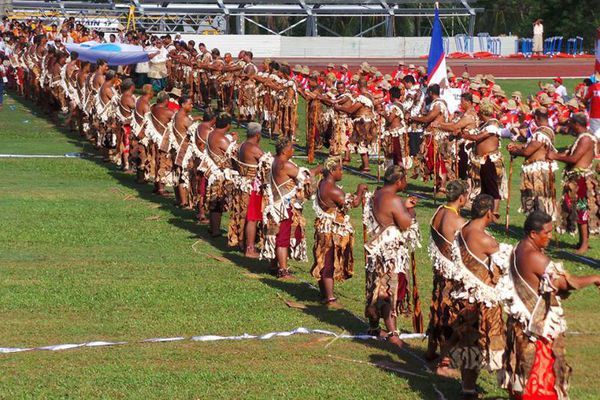 Cérémonie d'ouverture des 9e mini jeux du Pacifique à Wallis, 2013