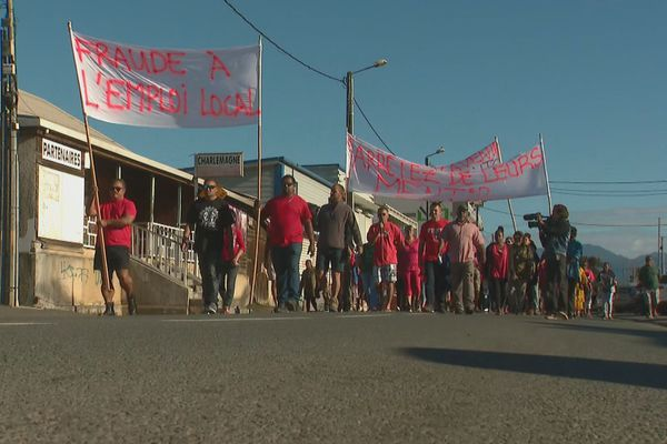 Manifestation Bourail 5 août 1