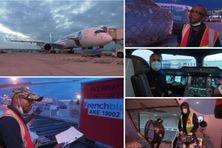Presque 14 tonnes de masques se sont envolées vers la Nouvelle-Calédonie, jeudi 16 septembre 2021.