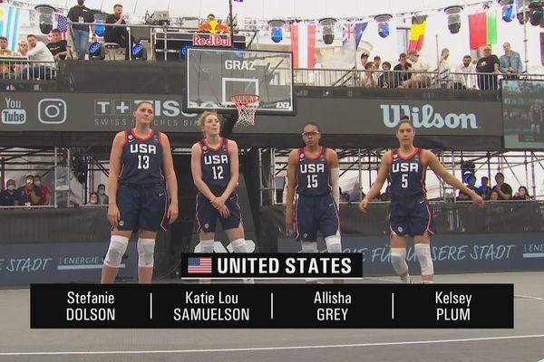 Amerika Serikat dapat mengandalkan empat pemain WNBA, termasuk tiga dari lebih dari 1m83