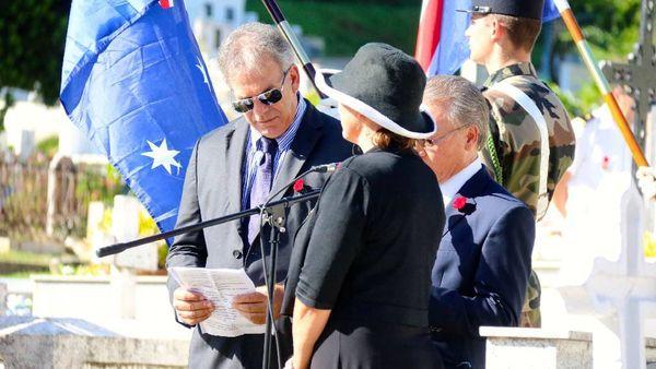 Les consuls d'Australie et de Nouvelle Zélande ont assisté à la cérémonie
