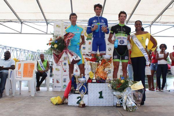 Le podium de la 6ème étape