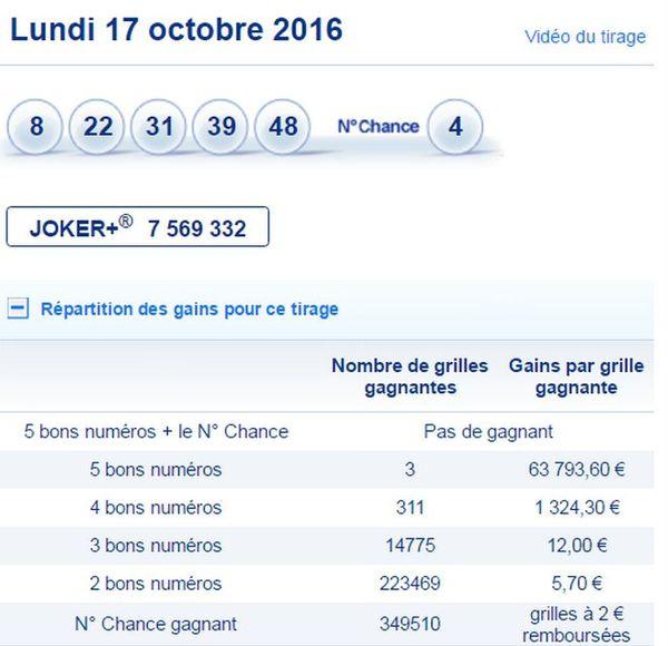 Loto 18 Oct 2016