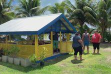 A Bora Bora, sur le terrain de la famille Tapi.