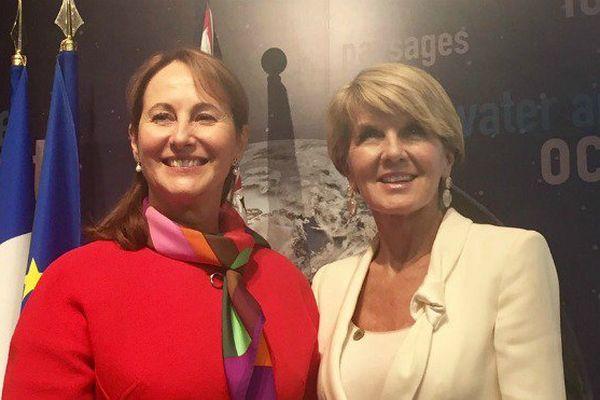 Ségolène Royal et Julie Bishop, ministre des affaires étrangères d'Australie